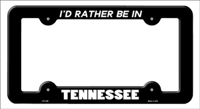 Be In Tennessee Novelty Metal License Plate Frame