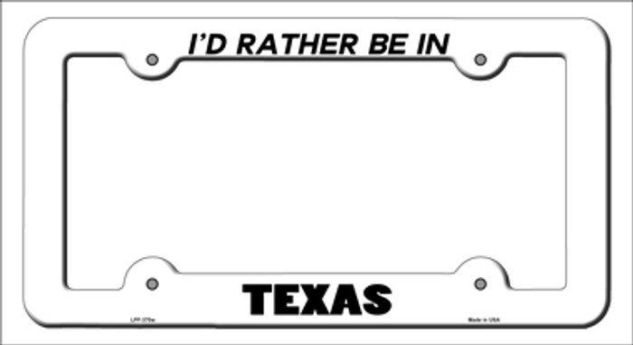 Be In Texas Novelty Metal License Plate Frame