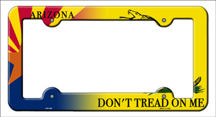Arizona|Dont Tread Novelty Metal License Plate Frame