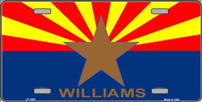 Williams Arizona Flag Metal Novelty License Plate