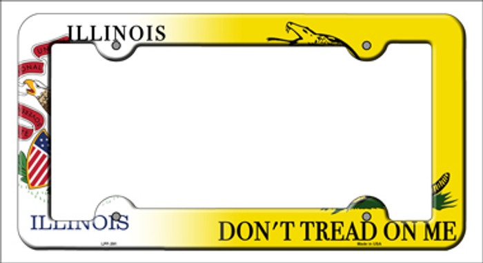 Illinois|Dont Tread Novelty Metal License Plate Frame