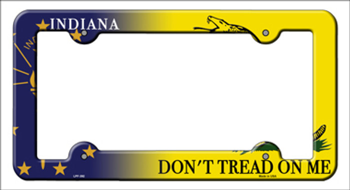 Indiana|Dont Tread Novelty Metal License Plate Frame