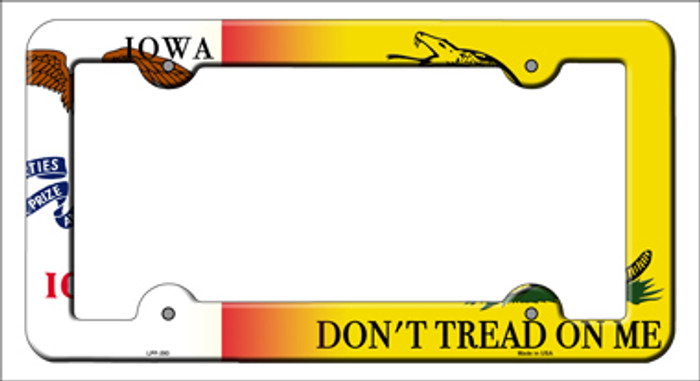 Iowa|Dont Tread Novelty Metal License Plate Frame