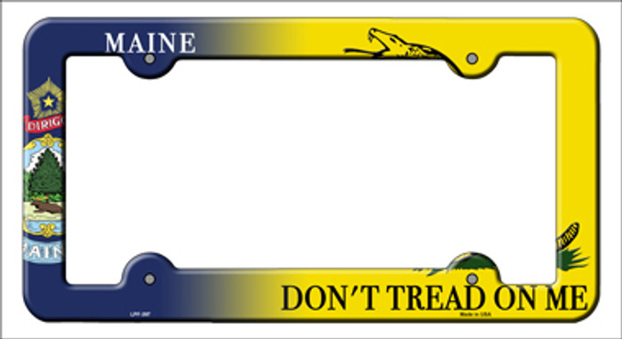 Maine|Dont Tread Novelty Metal License Plate Frame