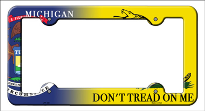 Michigan Dont Tread Novelty Metal License Plate Frame