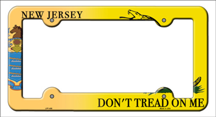 New Jersey Dont Tread Novelty Metal License Plate Frame