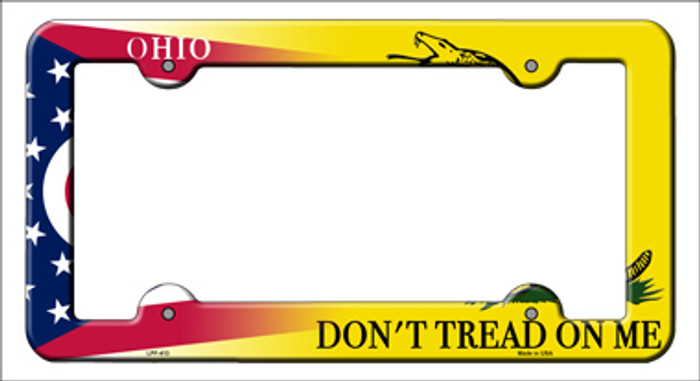 Ohio Dont Tread Novelty Metal License Plate Frame