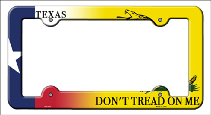 Texas Dont Tread Novelty Metal License Plate Frame