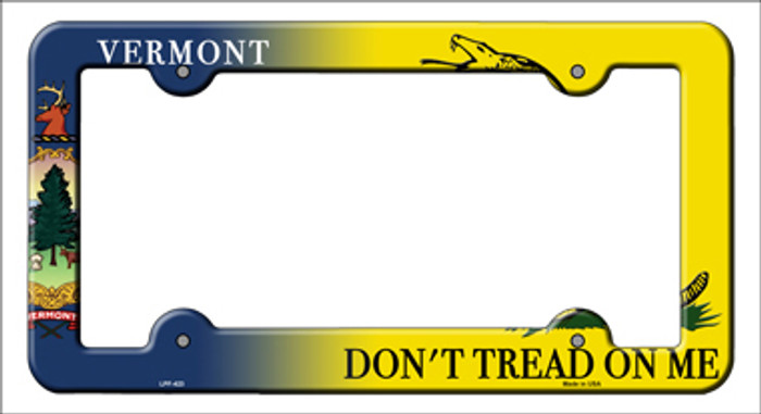 Vermont Dont Tread Novelty Metal License Plate Frame