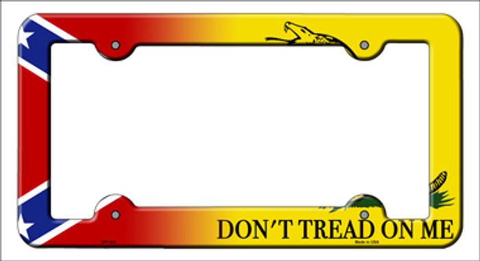 Confederate Flag|Dont Tread Novelty Metal License Plate Frame