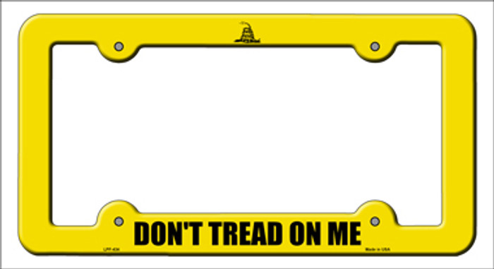 Dont Tread Yellow Novelty Metal License Plate Frame