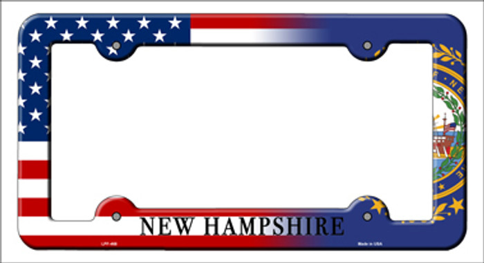New Hampshire|American Flag Novelty Metal License Plate Frame