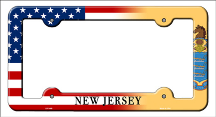 New Jersey|American Flag Novelty Metal License Plate Frame