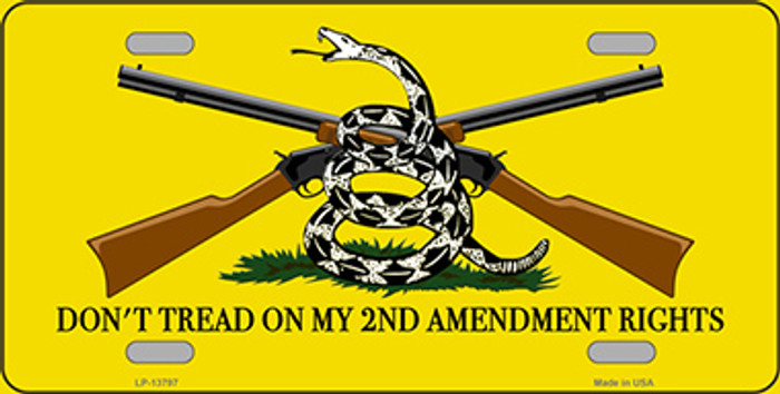 Dont Tread On My 2nd Amendment Novelty Metal License Plate