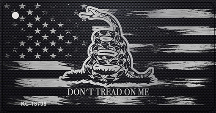 Dont Tread On Me Distressed Flag Novelty Metal Key Chain