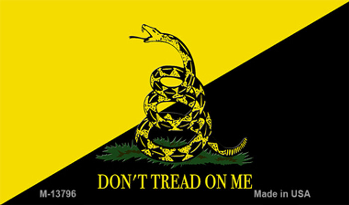 Dont Tread On Me Yellow|Black Novelty Metal Magnet
