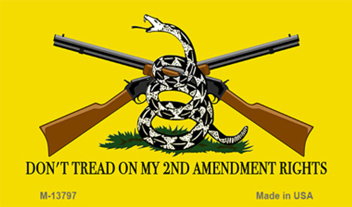 Dont Tread On My 2nd Amendment Novelty Metal Magnet