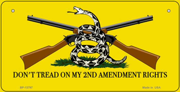 Dont Tread On My 2nd Amendment Novelty Metal Bicycle Plate