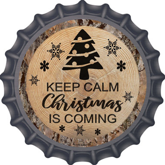 Christmas Is Coming Novelty Metal Bottle Cap