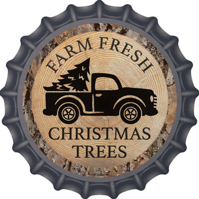 Farm Fresh Christmas Trees Novelty Metal Bottle Cap