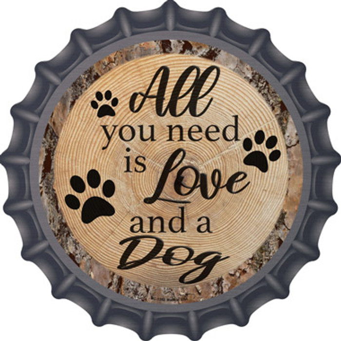 Love and a Dog Novelty Metal Bottle Cap