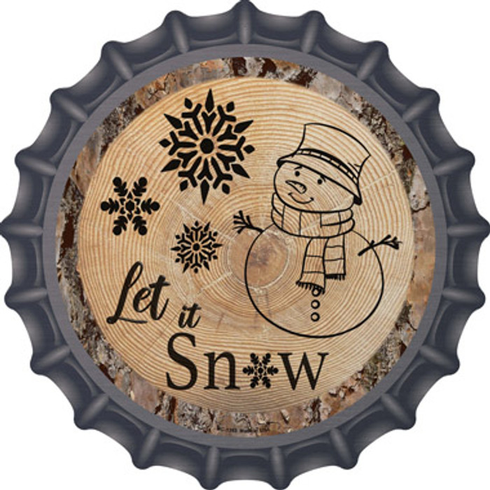 Let it Snow Novelty Metal Bottle Cap