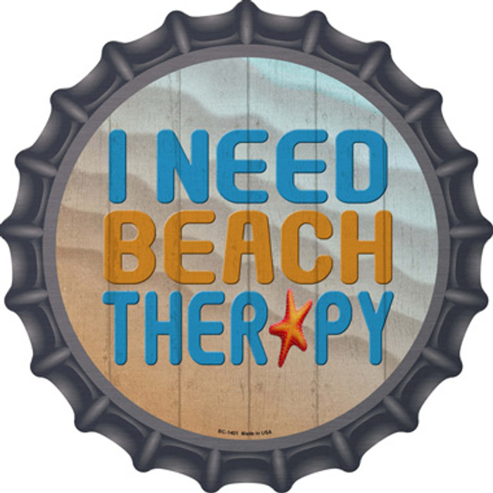 I Need Beach Therapy Novelty Metal Bottle Cap