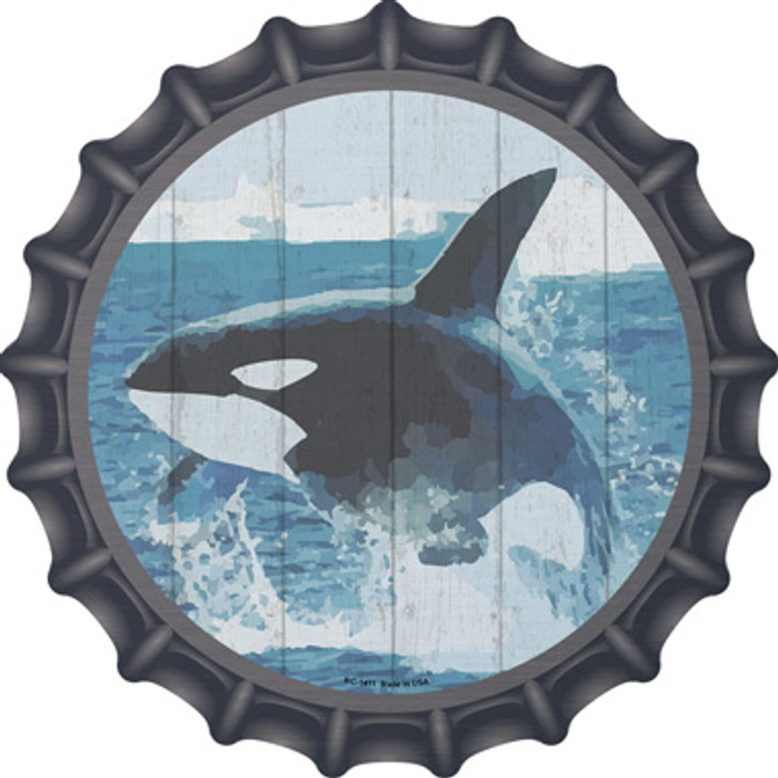 Whale Out of Water Novelty Metal Bottle Cap