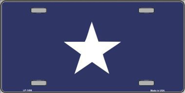 Bonnie Blue Flag Metal Novelty License Plate