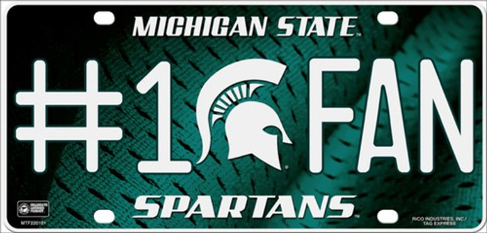 Michigan State Fan Deluxe Metal Novelty License Plate