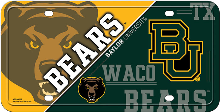 Baylor Bears Deluxe Novelty Metal License Plate LP-5544