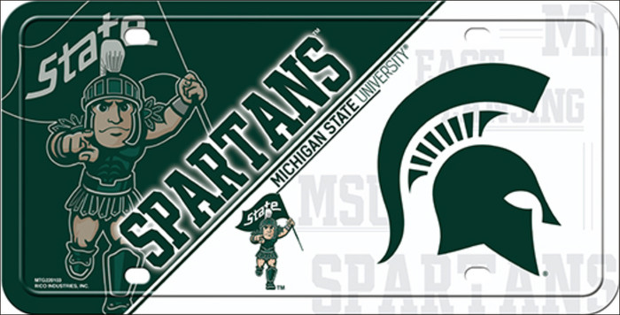 Michigan State Deluxe Novelty Metal License Plate LP-5546