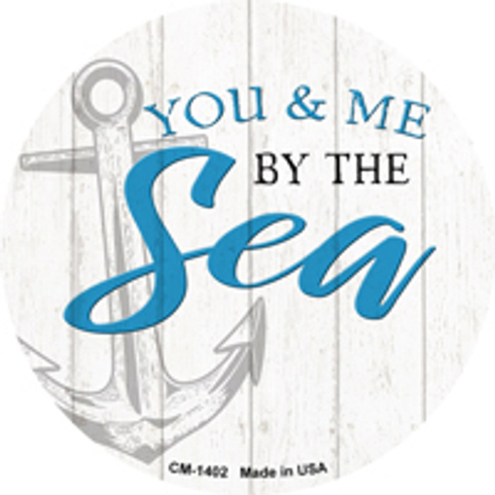 You and Me by the Sea Novelty Metal Mini Circle Magnet