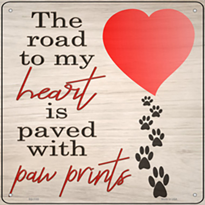 Road to my Heart Novelty Metal Square Sign