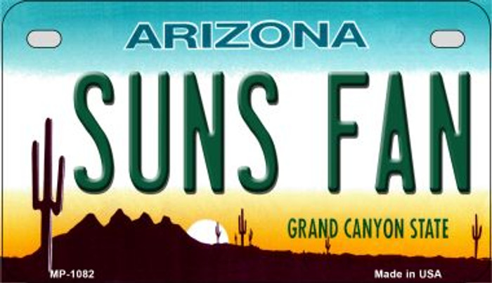 Suns Fan Arizona Metal Novelty Motorcycle License Plate Tag MP-1082