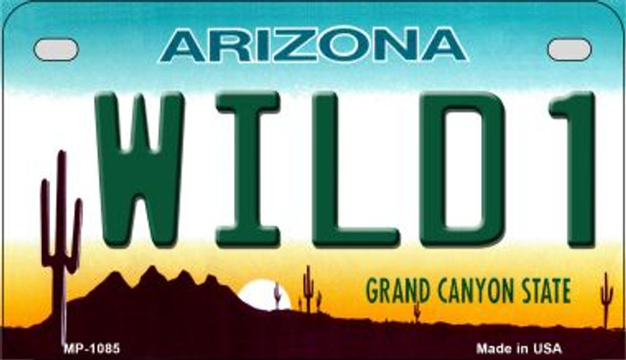 Arizona Wild 1 Metal Novelty Motorcycle License Plate Tag MP-1085