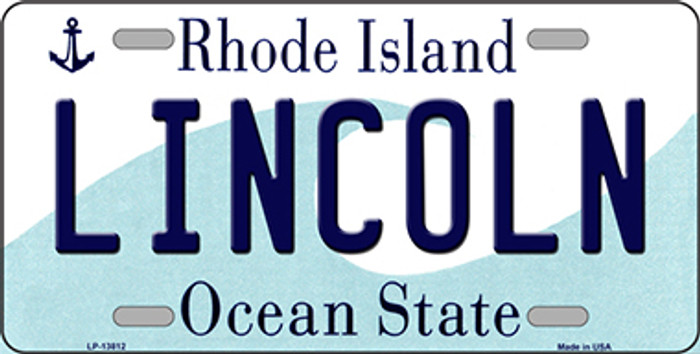 Lincoln Rhode Island Novelty Metal License Plate Tag