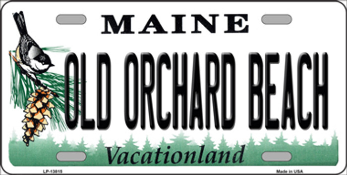 Old Orchard Beach Maine Novelty Metal License Plate Tag