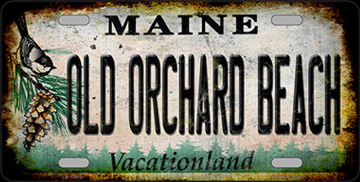 Old Orchard Beach Maine Rusty Novelty Metal License Plate Tag