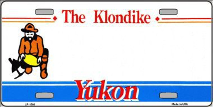 Yukon Novelty Background Metal License Plate