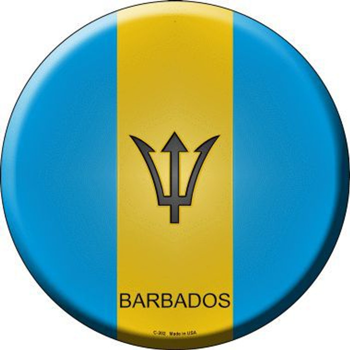 Barbados Country Novelty Metal Circular Sign