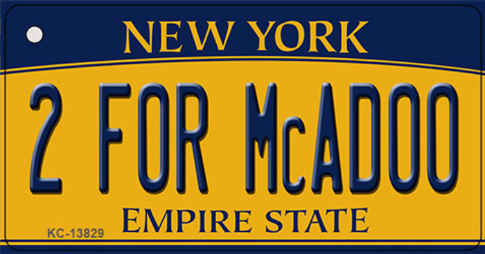 2 For McAdoo New York Novelty Metal Key Chain