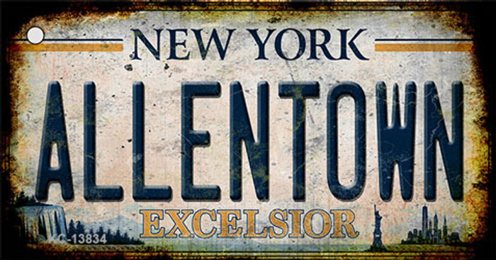 Allentown Excelsior New York Rusty Novelty Metal Key Chain