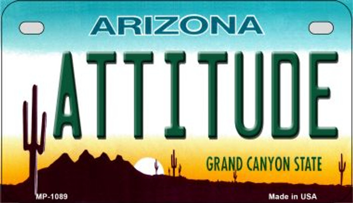Attitude Arizona Metal Novelty Motorcycle License Plate Tag MP-1089