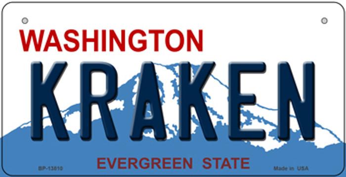 Kraken Washington Novelty Metal Bicycle Plate