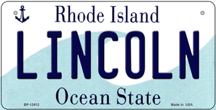Lincoln Rhode Island Novelty Metal Bicycle Plate