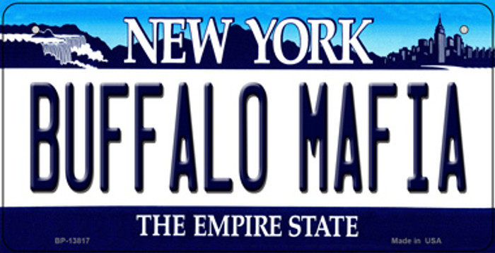Buffalo Mafia New York Novelty Metal Bicycle Plate