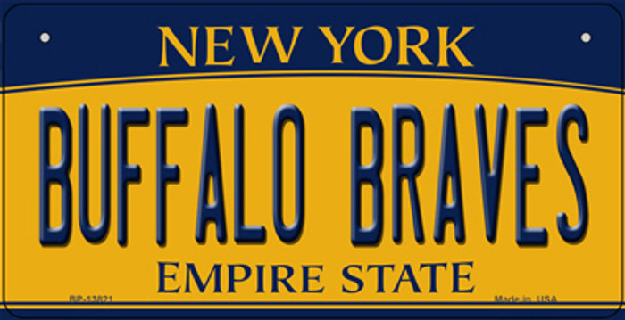 Buffalo Braves New York Novelty Metal Bicycle Plate
