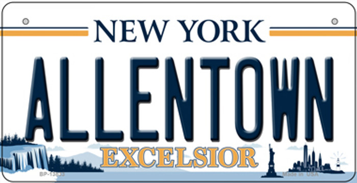 Allentown Excelsior New York Novelty Metal Bicycle Plate