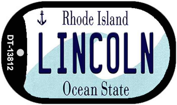 Lincoln Rhode Island Novelty Metal Dog Tag Necklace